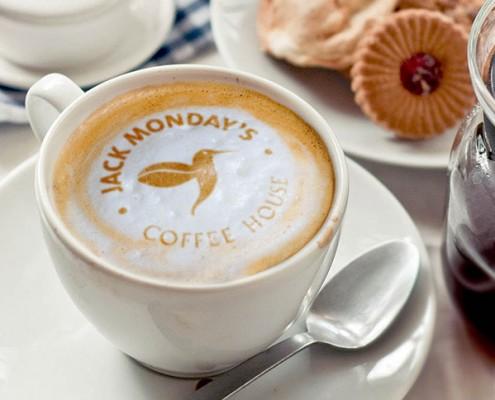 Jack Mondays Coffee Logo Mockup