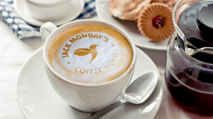 Jack Mondays Coffee Logo Mockup